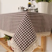 the korean style table cloth on behalf of a thick plaid cloth pastoral tablecloth table cloth factory direct sales
