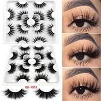 fashion wispies fluffy beauty faux mink hair full volume eye lash extension new 3d multilayers 25mm false eyelashes 7 pairs