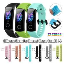 In Lager Für Original Huawei Honor Band 4 Smart Armband Strap Silikon für Honor band 5 Smart Uhr Armband Band gürtel Correa