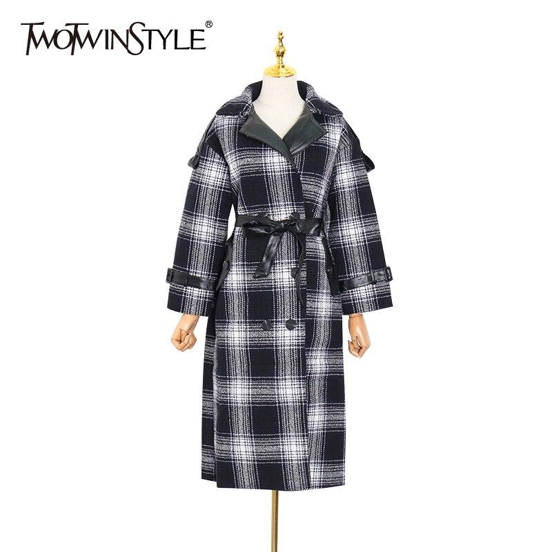 معطف كاجوال نسائي TWOTWINSTYLE, معطف منقوش ، بأكمام طويلة ، من الدانتيل ، مناسب للخريف 2020