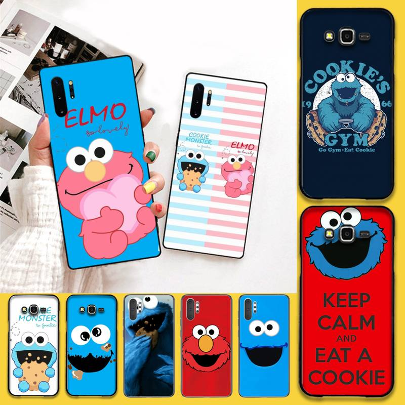 Hpchcjhm cookie monstro dos desenhos animados de luxo design exclusivo telefone capa para samsung galaxy j7 j8 j6 plus 2018 prime note 7 8 9 10 pro