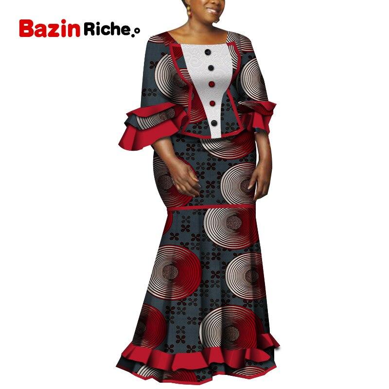 Спешите купить Африканский женский костюм, комплект из 2 предметов WY5240