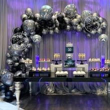139pcs/set 22inch New Silver 4D Laser Disco Balloon Garland Kits Birthday Wedding Bar party Decoration Round globos Kids Gift