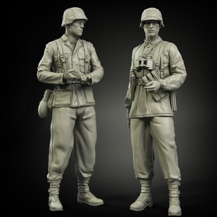 1/35 conjunto de granadero Normandía, soldado modelo de resina GK, temas militares de la Segunda Guerra Mundial, sin montar y Kit sin pintar