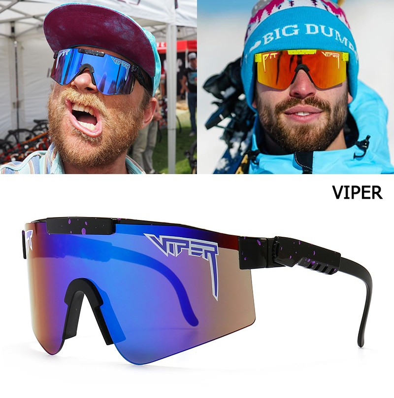 JackJad 2021 Fashion Cool Flat Top Shield Style Windproof Sunglasses VIPER Brand Outdoor Sports Ride