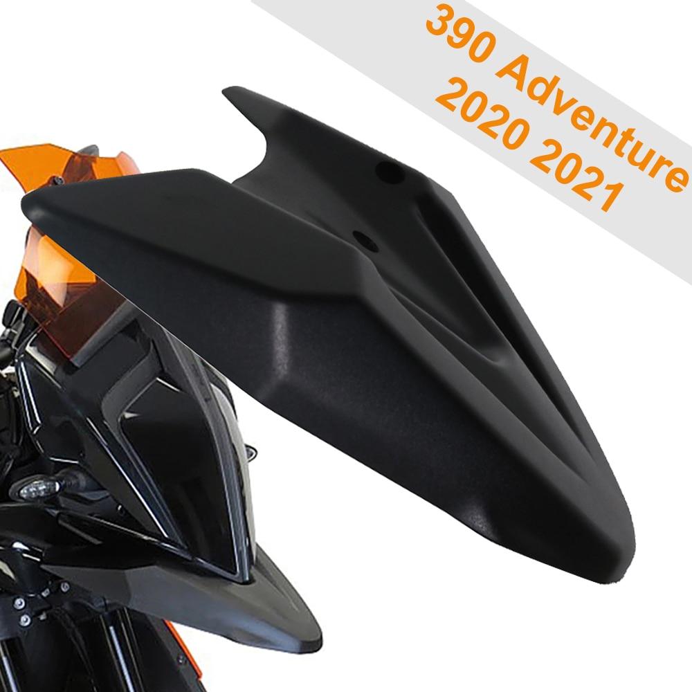 ل 390 مغامرة ADV 2020 2021 دراجة نارية اكسسوارات الجبهة الحاجز دقيق الطين منقار حارس البقر تمديد أغطية الاطارات هدية