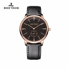 Reef Tiger/RT Couple Watches Casual Vintage Quartz Watches for Men Rose Gold Ultra Thin Watch with L