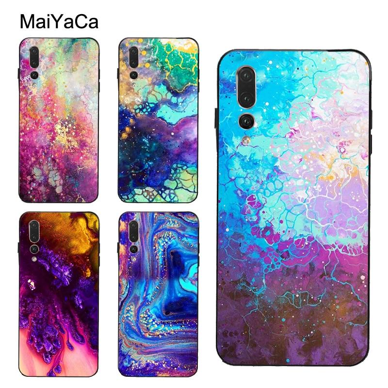 Abstract Color Pastel Paint Case For Huawei P40 P10 P20 Lite P30 Pro Mate 30 20 Pro 10 Lite