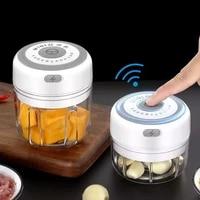 100250ml electric garlic masher garlic press vegetable chili meat garlic chopper press usb masher machine kitchen gadgets
