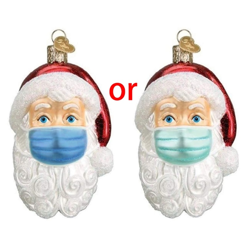 Santa Claus New Year Natural Resin Christmas Tree Ornaments Pendant Hanging Gifts Xmas Decor for Home Party Decorations недорого