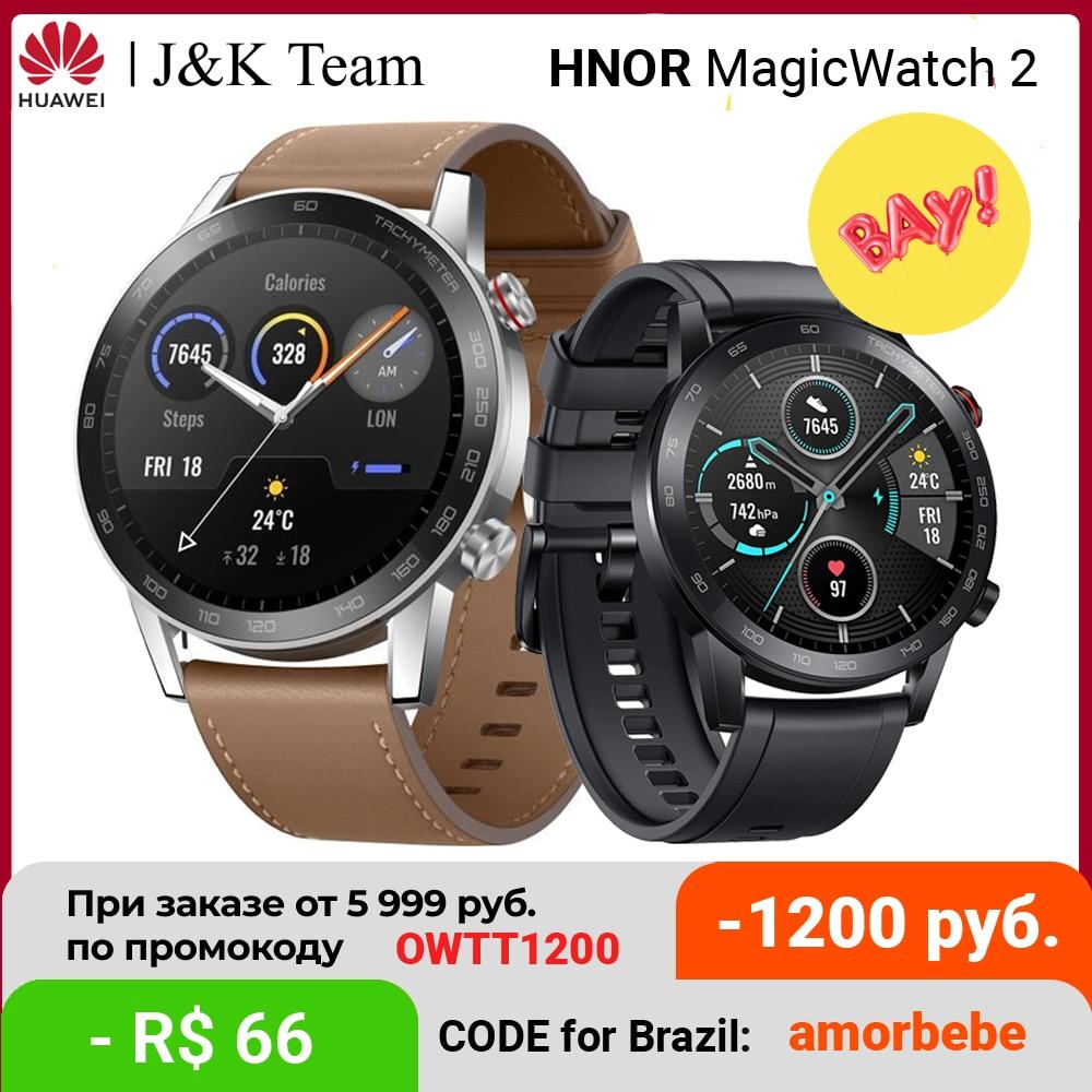 Cмарт часы HONOR MagicWatch 2 46mm , часы муржские наручные,HONOR Magic Watch 2 умные часы Bluetooth 5,1, 14 дней автономной работы