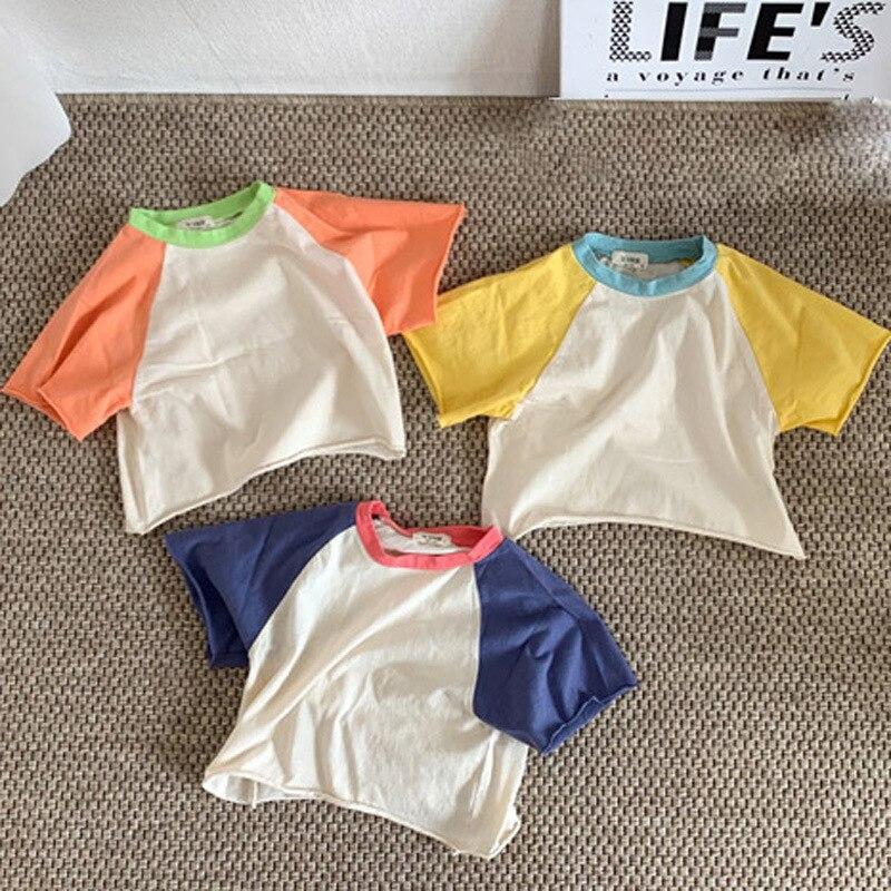 MILANCEL baby t shirt  cotton baby tops pure cotton tee  summer baby boys base t-shirt