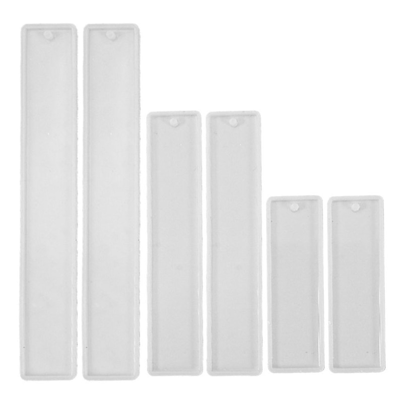 6 Pcs/Set Crystal Epoxy Resin Mold Rectangle Bookmark Silicone Mould Handmade Crafts Jewelry Making Tool AXYD nicole silicone soap mold rectangle white liner mould for handmade making tool
