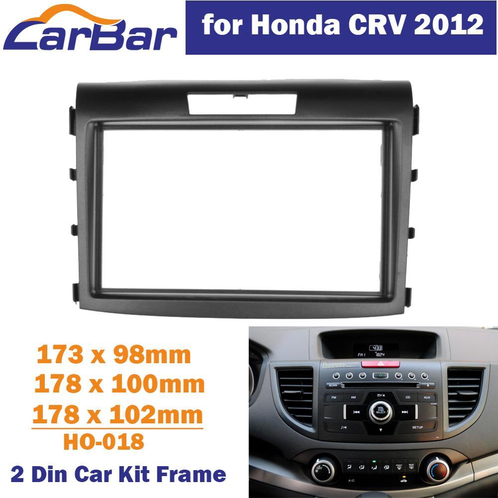 CarBar Double Din Car Radio Fascia for Honda CRV CR-V 2012  Stereo Fascia Dash Dashboard Frame Panel Trim Kit Car Stereo