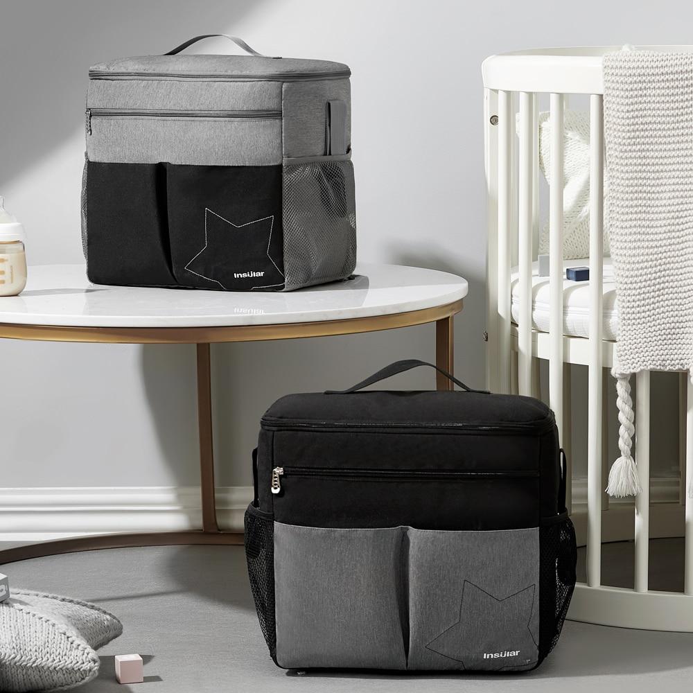 Waterproof Diaper Bag Large Capacity Mommy Travel Bag Multifunctional Maternity Mother Baby Stroller Bags Organizer