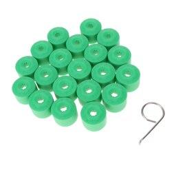 20 pçs parafuso da porca de roda parafuso do pneu tampa de poeira capa + ferramenta para vw golf verde