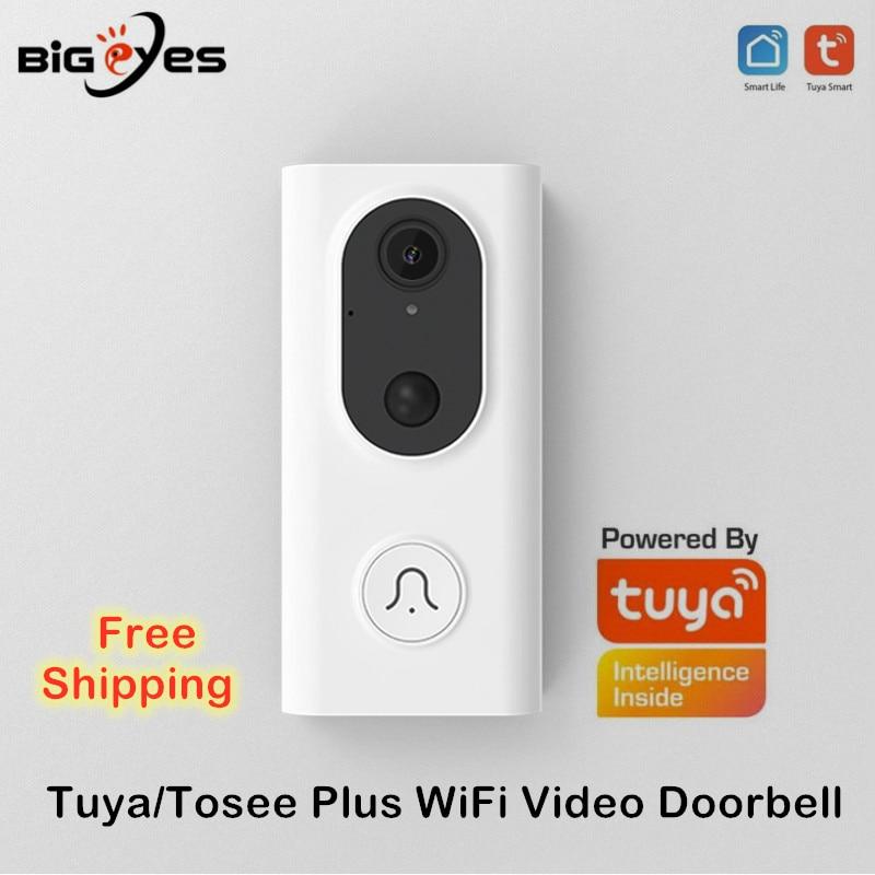تويا-جرس باب فيديو ذكي ، wi-fi ، هاتف فيديو لاسلكي ، استهلاك منخفض للطاقة ، Alexa و Google Home