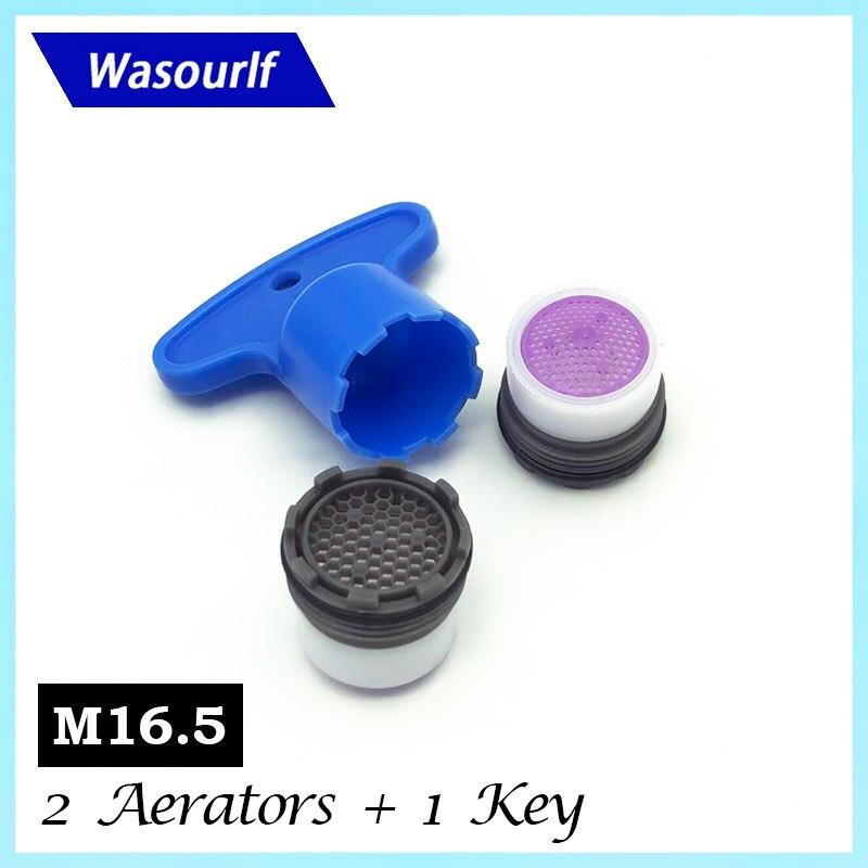 WASOURLF 2 шт. M16.5 мужской аэратор с резьбой, водосберегающий кран, кран-пузырь, внешний скрытый кухонный аэратор, аксессуары для бассейна