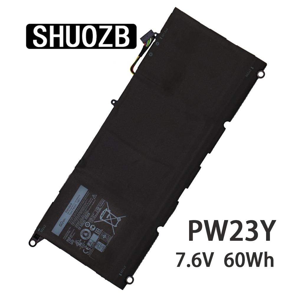 SHUOZB جديد PW23Y محمول Battrery 7.6V 60Wh 7890mAh RNP72 TP1GT لديل XPS 13 9360 13-9360-D1605G 0RNP72 0TP1GT اللوحي