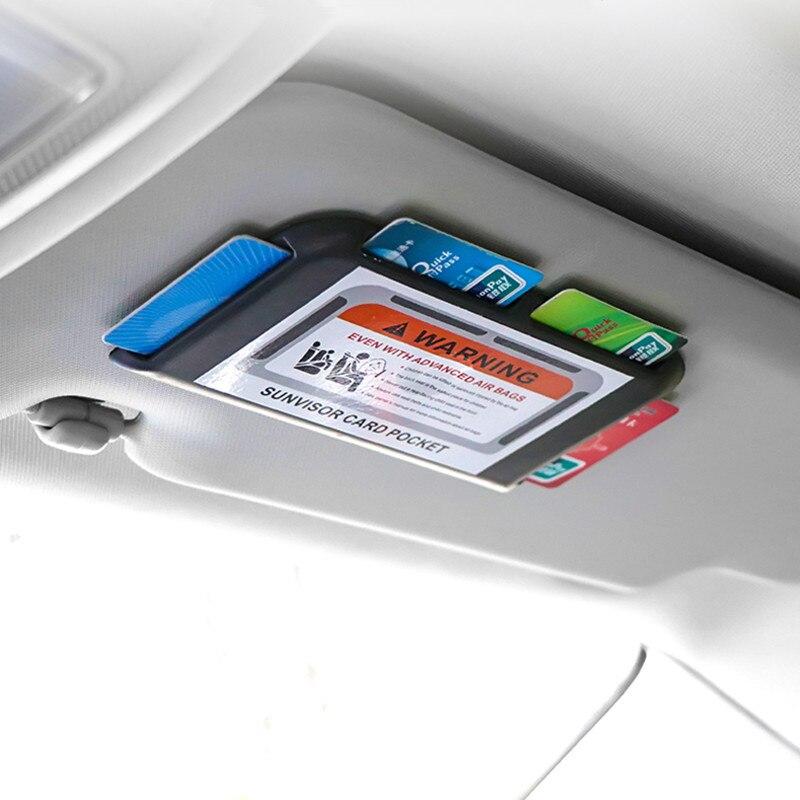 Auto Styling Gewidmet Sonnenblenden Visitenkarte Halter Temporäre Parkplatz Anzahl Platte Für BMW Audi Benz Innen Zubehör