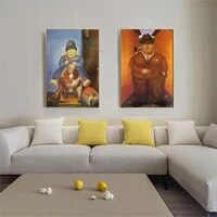 wall art canvas painting quadros anime poster prints wall pictures home bedroom wall decor nordic modern art q version fat girl