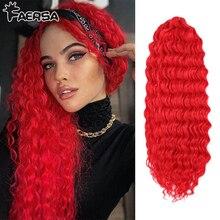 Deep Wave Twist Crochet Hair Natural Synthetic Afro Curls Crochet Braids Ombre Braiding Hair Extensions For Women Low Tempreture
