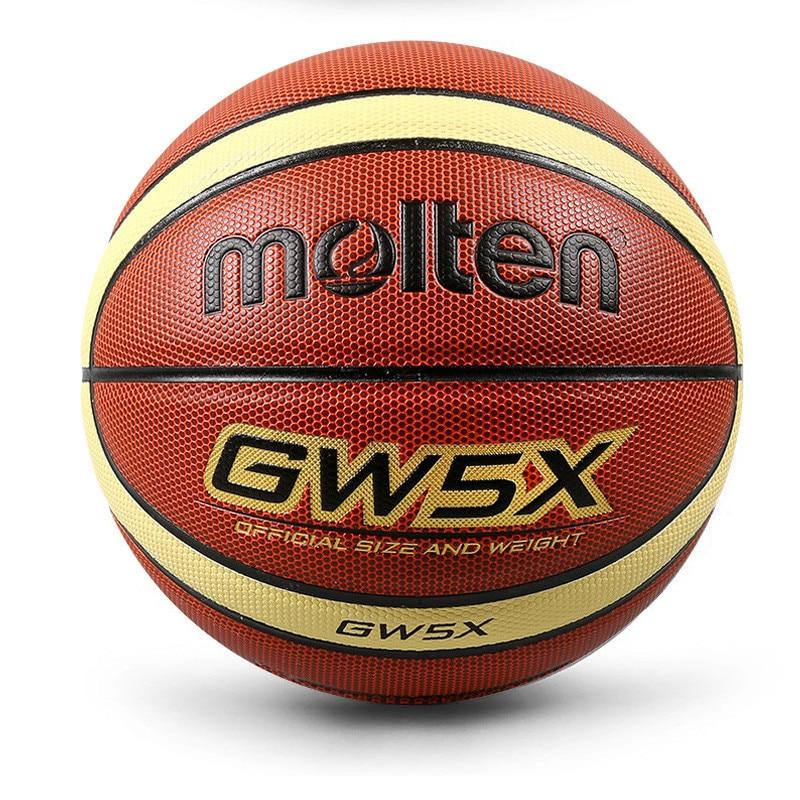 Официальная полиуретановая игла и сетка новый размер качественный кожаный мяч бренд баскетбол GW5/GW5X/GM5X Баскетбол бесплатно 5 & Вес баскетбол...