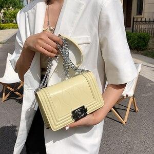 2021 Brand Ripple Women's Shoulder Bag Chain Crossbody Bag  Designer Lock Handbag PU Leather Flap Small Square Bag Female Purses