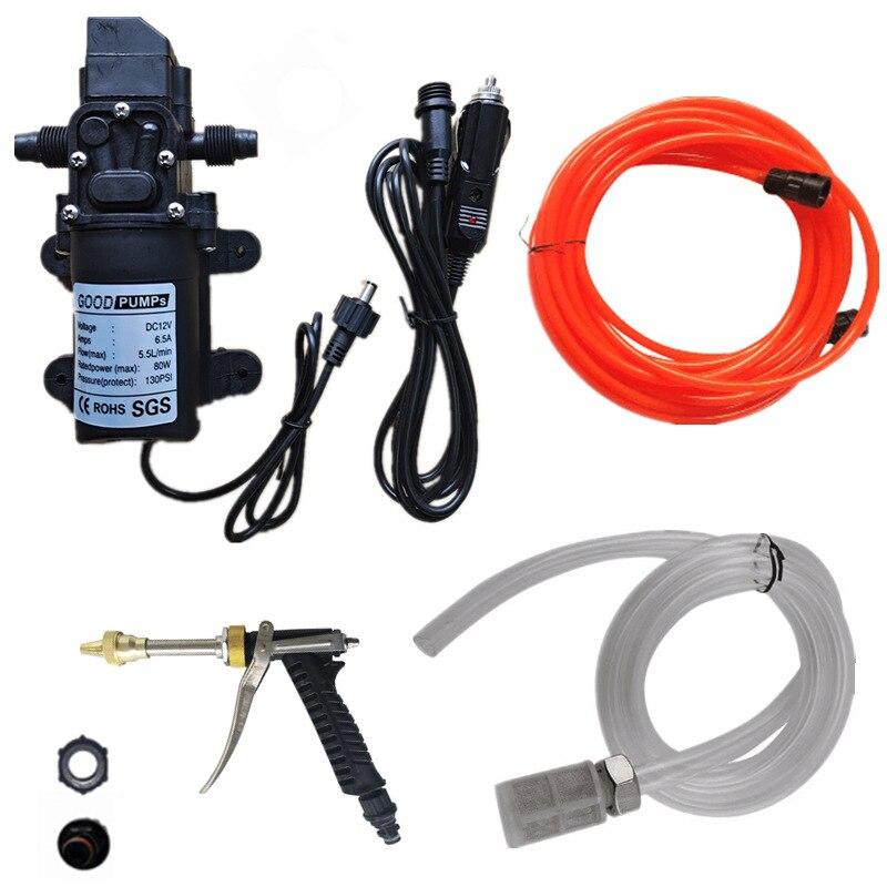Bomba de Diafragma Elétrica para Lavagem de Carro Agrícola Auto-escorvamento Miniatura 12v 80w