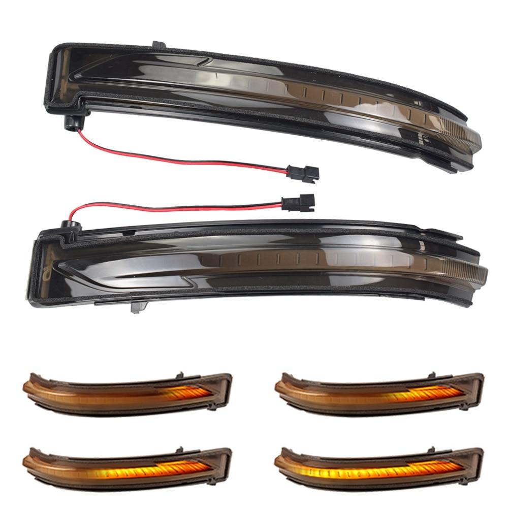 Luz LED de señal de giro dinámica, luz intermitente de agua corriente para Nissan x-trail T32 Qashqai J11 Murano Z52 Juke Navara NP300 Pathfinder