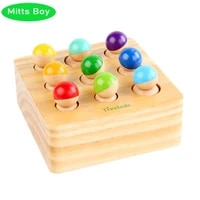 new montessori educational wooden toys 3d socket puzzle cylinder wooden logarithmic boardtraining intellectual learning toy gift