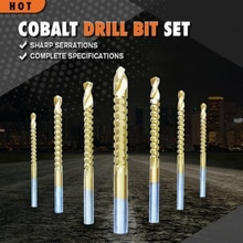 Juego de brocas de cobalto, conjunto de tornillos en espiral, broca métrica compuesta, juego de brocas giratorias, multifunción, metal, speea, 6 unids/set