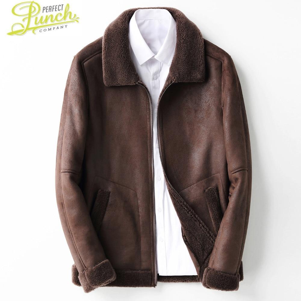 معطف شتوي من الفرو الحقيقي للرجال معطف من صوف الخراف 100% سترات دافئة للرجال KFS19M219 MY2039