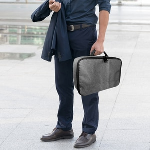 Image 5 - Портативный серый чехол для проектора универсальная сумка для переноски органайзер для путешествий для проекторов и аксессуаров
