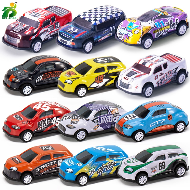 8Pcs/Set Children's Alloy Car Pull Back 1/64 Diecast Kids Metal Action Model Cars Hot Educational Toy For Boy Gifts