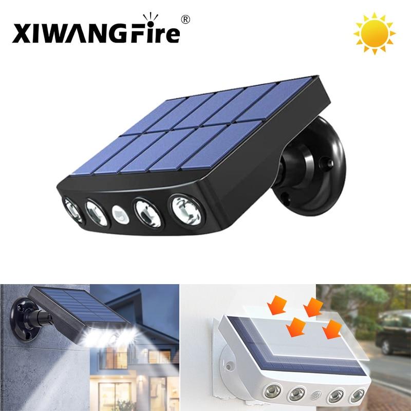 Sensor Waterproof Garden Solar Light Powerful LED Solar Wall Light Motion Outdoor Trail Street Led Wall Light Spotlight Torch