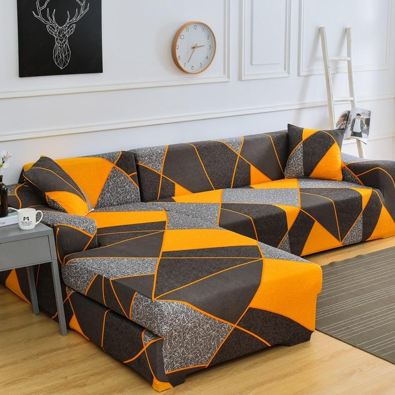 Elastische Sofa Cover L-Vormige Bank Cover Eenvoudige Stijl Meubilair Woonkamer Sofa Cover Anti-Fouling sofa Bed Cover