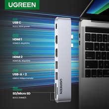 Концентратор UGREEN USB C для MacBook Pro Air, USB Type C HDMI концентратор для MacBook Pro Air адаптер Thunderbolt 3 док-станция USB C 3,1