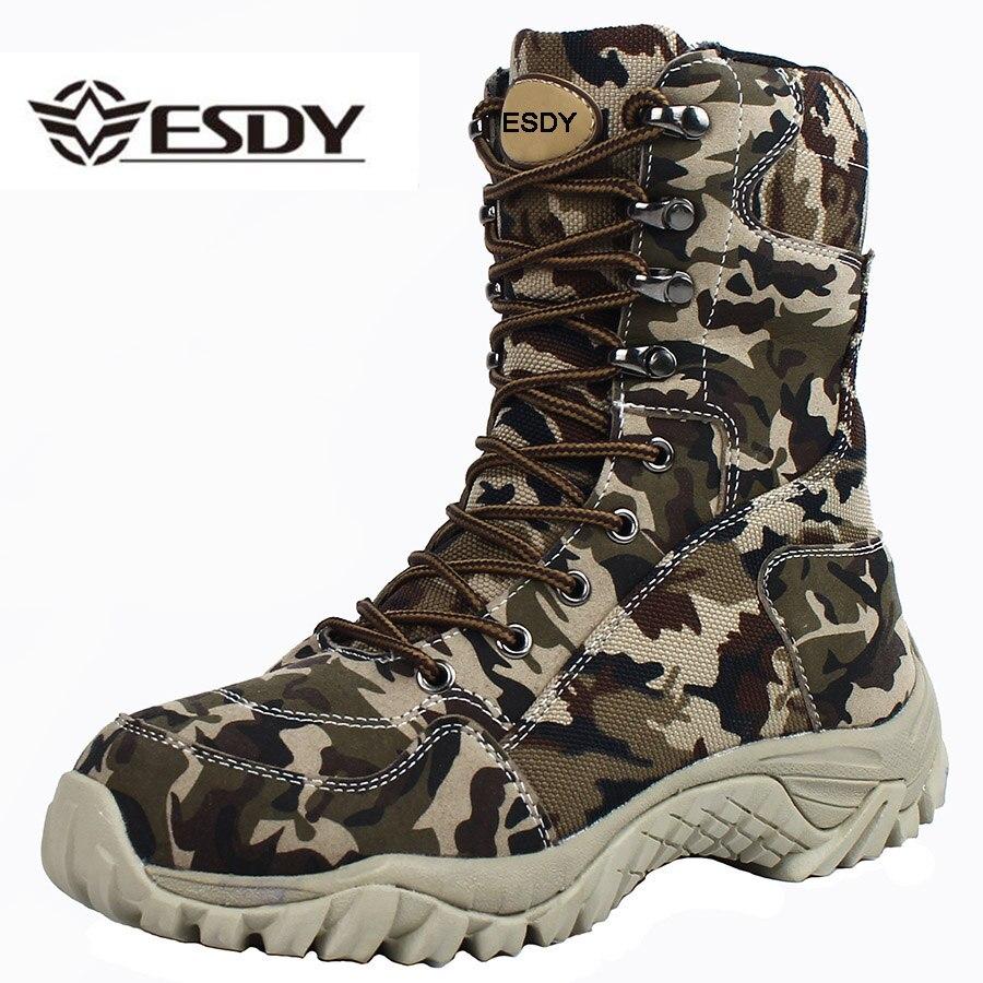Мужские армейские ботинки, армейские ботинки из дышащей кожи на шнурках, камуфляжные ботинки для работы, 2019