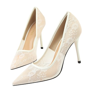 High heels, women's shoes, thin heels, high and surface toothed lace-up slit
