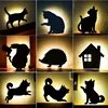 LED בעלי החיים צורת לילה מנורת Motion חיישן חכם שליטת קול מנורת קיר בית מסדרון מרפסת תאורה תינוק ילדים שינה מנורות