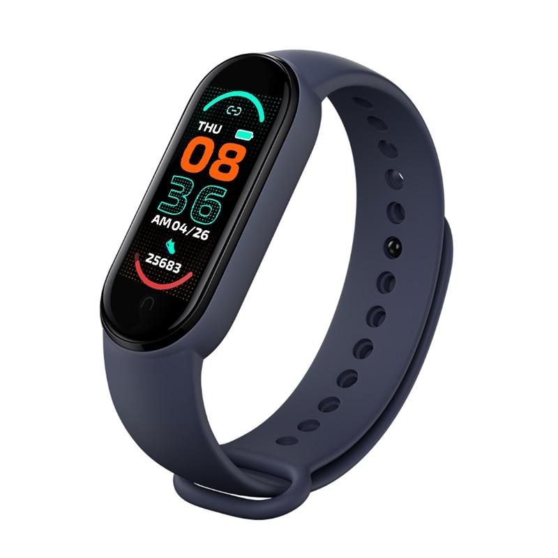 M6 Smart Digital Watch Bracelet for Men Women with Heart Rate Monitoring Running Pedometer Calorie C