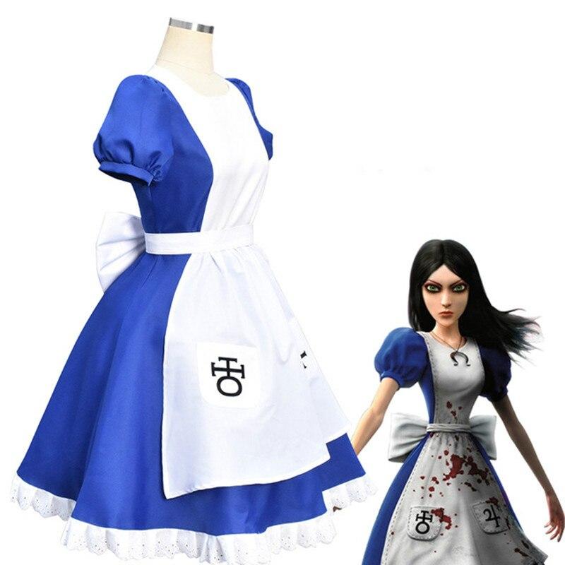 Juego Alice Madness vuelve, disfraz de Cosplay, Disfraces de Halloween, vestidos de...