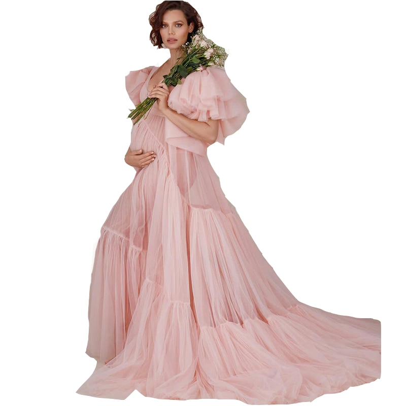 فستان حمل وردي مكشكش ، ملابس داخلية فاخرة ، ملابس داخلية ، رداء حمام