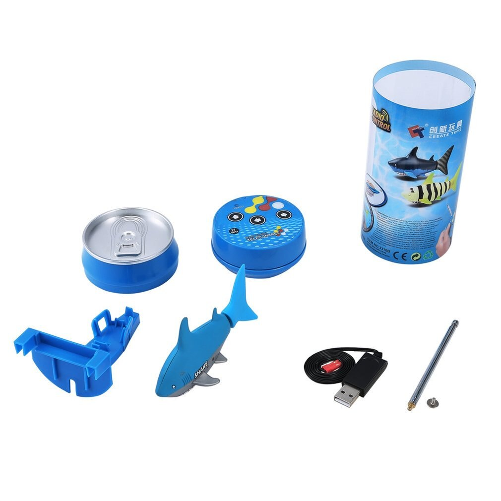 Mini RC Submarine 4 CH Remote Small Sharks with USB Remote Control Toy New Fish Boat Best Christmas