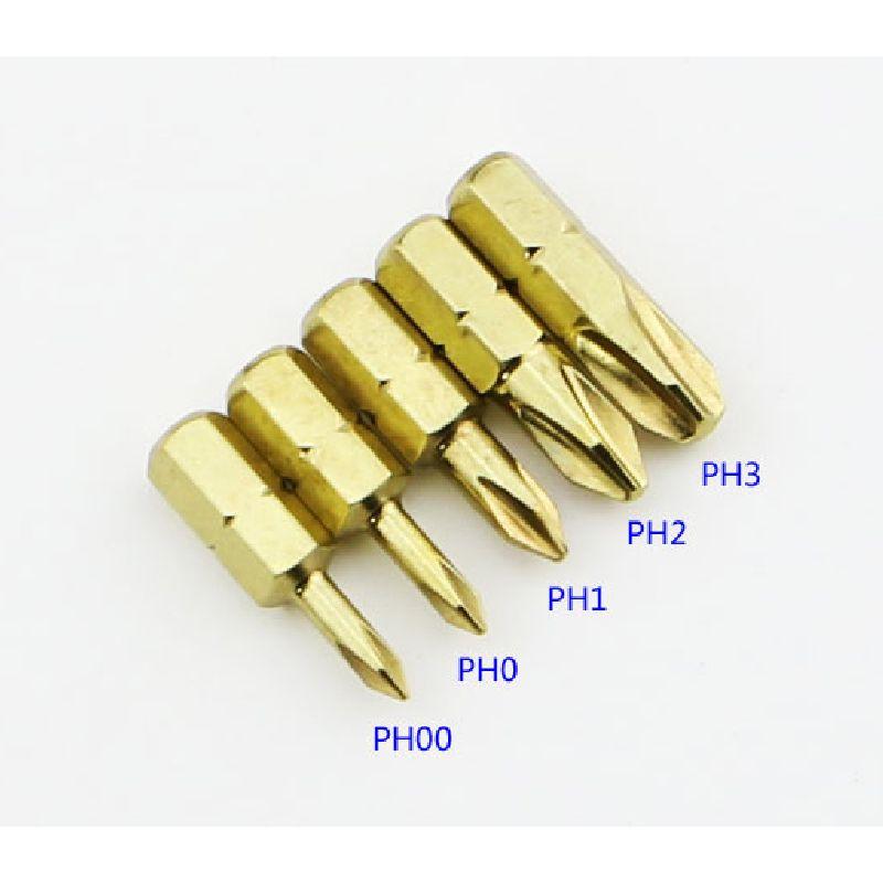 Corta 25mm S2 Vástago Hexagonal duro 6,35mm herramientas eléctricas puntas de destornillador eléctrico destornillador magnético tornillo de cabeza transversal broca