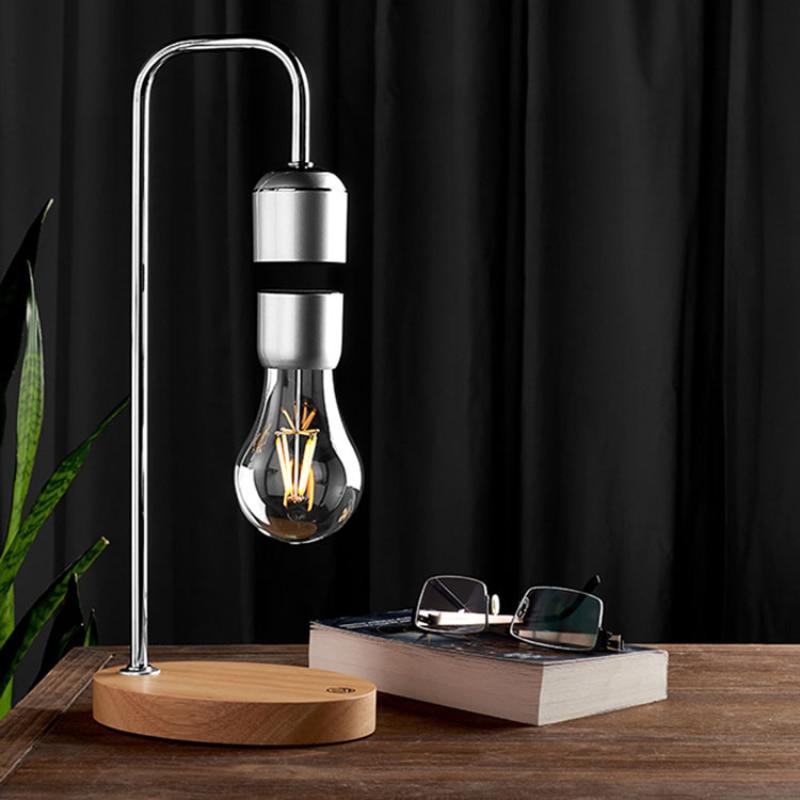 Magnetic Levitation Lamp LED Night Light Bulb Floating Lamp Table Light With Wireless Charging Balance Lamp Decoration Lighting