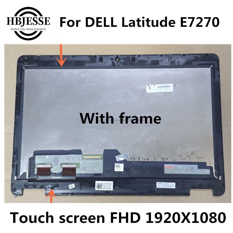 شاشة LCD تعمل باللمس مقاس 12.5 بوصة لجهاز DELL Latitude E7270 ، أصلية ، تعمل باللمس ، موديل LTN125HL06 LP125WF1 SP G4 /G1/G2/G3 FHD 1920*1080