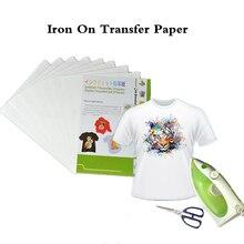 (40 Stks/partij) ijzer Op Inkjet Heat Transfer Papier Voor Textil Ijzer Op T-shirt Transfers Thermische Transfer Papel Dye Inkt