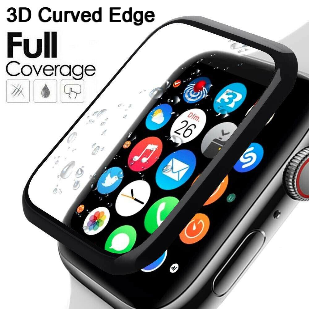 3D защита для экрана с изогнутыми краями для Apple Watch 5 4 3 2 1 Защитная пленка для Iwatch 40 мм 44 мм 38 мм 42 м